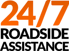 Picture of all of the services provided for roadside assistance.  The pictures include change tire, out of gas, battery needing jump and auto lock out.